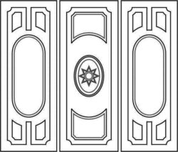 Design pattern door E0008468 file cdr and dxf free vector download for Laser cut CNC
