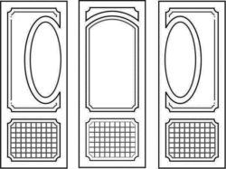 Design pattern door E0008469 file cdr and dxf free vector download for Laser cut CNC