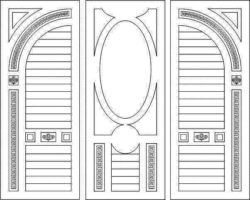 Design pattern door E0008470 file cdr and dxf free vector download for Laser cut CNC