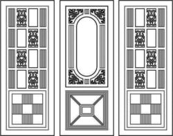Design pattern door E0008471 file cdr and dxf free vector download for Laser cut CNC