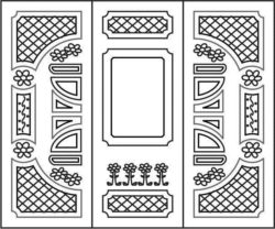 Design pattern door E0008472 file cdr and dxf free vector download for Laser cut CNC