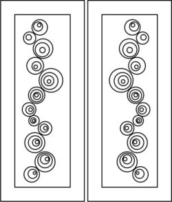 Design pattern door E0008519 file cdr and dxf free vector download for Laser cut CNC