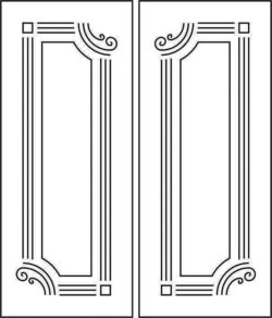 Design pattern door E0008520 file cdr and dxf free vector download for Laser cut CNC