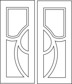 Design pattern door E0008522 file cdr and dxf free vector download for Laser cut CNC