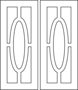 Design pattern door E0008523 file cdr and dxf free vector download for Laser cut CNC
