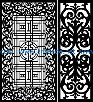 Design pattern panel screen E0008602 file cdr and dxf free vector download for Laser cut CNC