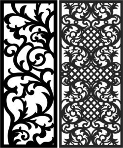 Design pattern panel screen E0008639 file cdr and dxf free vector download for Laser cut CNC