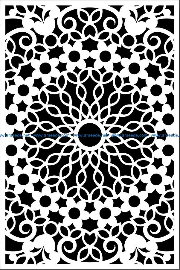 Design pattern panel screen E000864 file cdr and dxf free vector download for Laser cut CNC