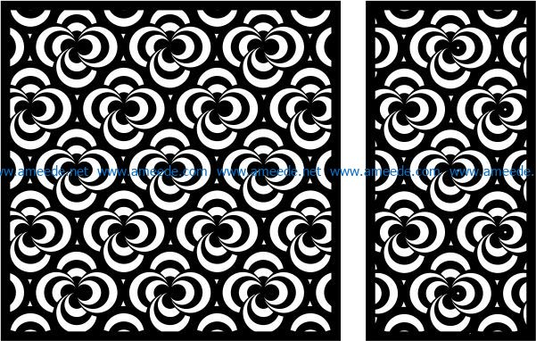 Design pattern panel screen E0008642 file cdr and dxf free vector download for Laser cut CNC