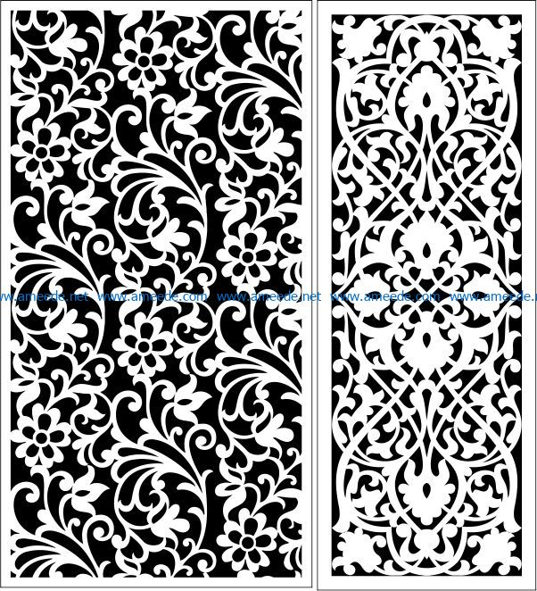 Design pattern panel screen E0008654 file cdr and dxf free vector download for