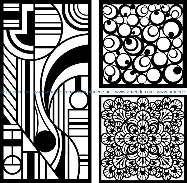 Design pattern panel screen E0008688 file cdr and dxf free vector download for Laser cut CNC