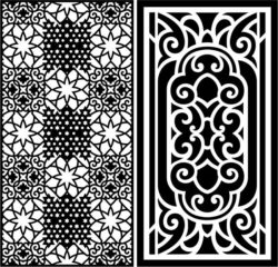Design pattern panel screen E0008695 file cdr and dxf free vector download for Laser cut CNC