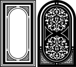 Design pattern panel screen E0008756 file cdr and dxf free vector download for Laser cut CNC