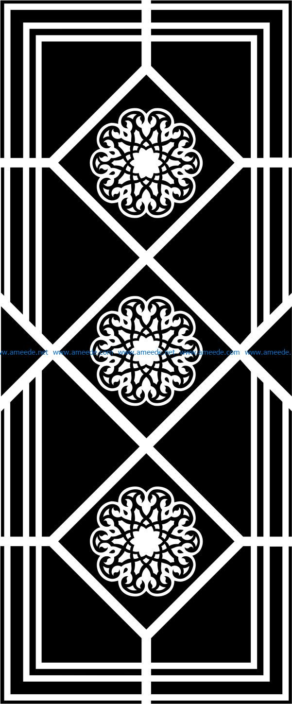 Design pattern panel screen E0008757 file cdr and dxf free vector download for Laser cut CNC