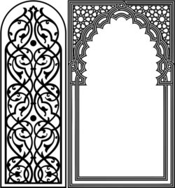 Design pattern panel screen E0008758 file cdr and dxf free vector download for Laser cut CNC