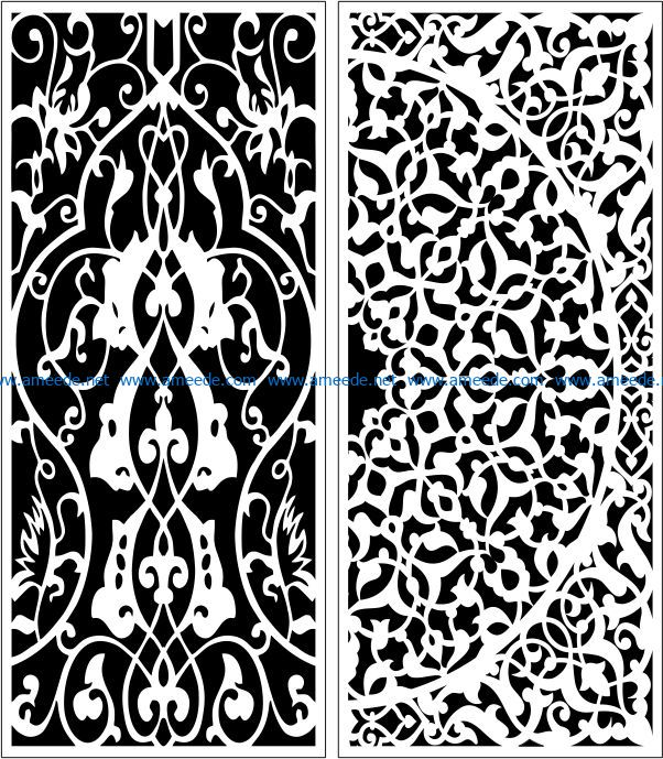 Design pattern panel screen E0008791 file cdr and dxf free vector download for Laser cut CNC