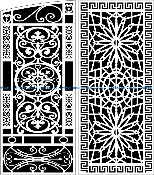 Design pattern panel screen E0008793 file cdr and dxf free vector download for Laser cut CNC
