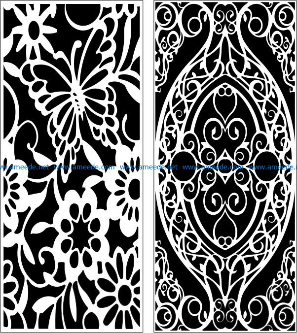 Design pattern panel screen E0008794 file cdr and dxf free vector download for Laser cut CNC