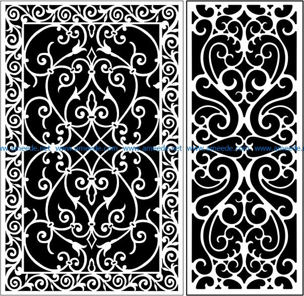 Design pattern panel screen E0008839 file cdr and dxf free vector download for Laser cut CNC