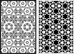 Design pattern panel screen E0008870 file cdr and dxf free vector download for Laser cut CNC