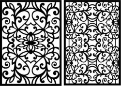 Design pattern panel screen E0008905 file cdr and dxf free vector download for Laser cut CNC