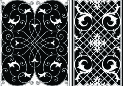 Design pattern panel screen E0008907 file cdr and dxf free vector download for Laser cut CNC