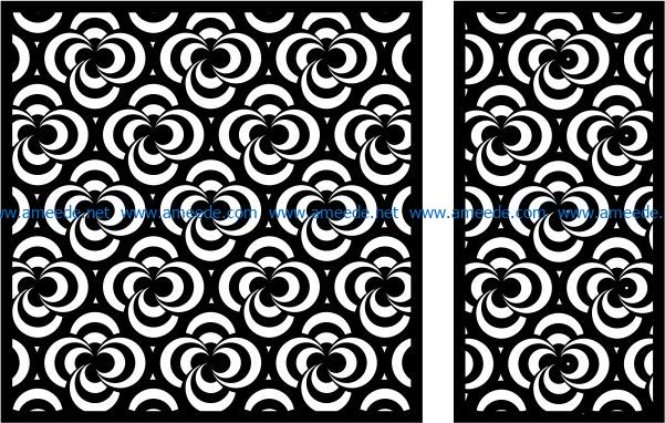 Design pattern panel screen E0008911 file cdr and dxf free vector download for Laser cut CNC
