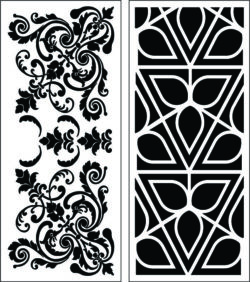 Design pattern panel screen E0008915 file cdr and dxf free vector download for Laser cut CNC