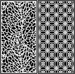 Design pattern panel screen E0008935 file cdr and dxf free vector download for Laser cut CNC