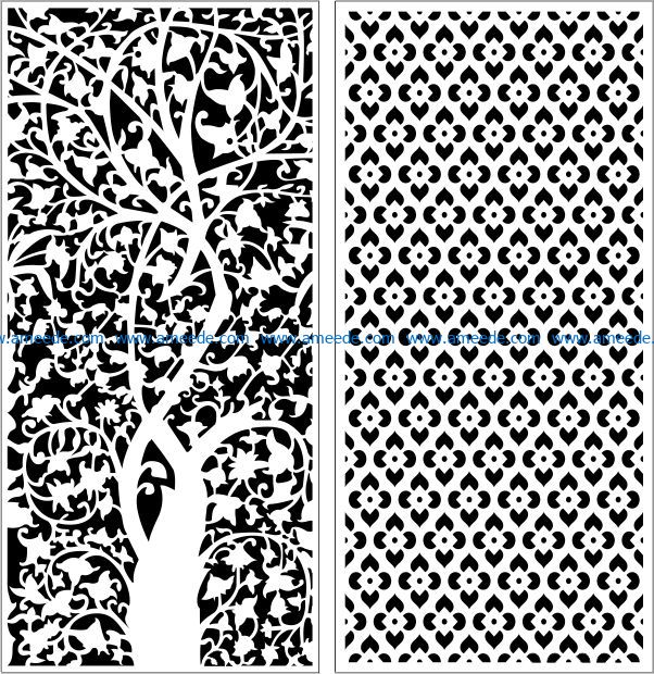 Design pattern panel screen E0008967 file cdr and dxf free vector download for Laser cut CNC