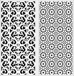 Design pattern panel screen E0008968 file cdr and dxf free vector download for Laser cut CNC
