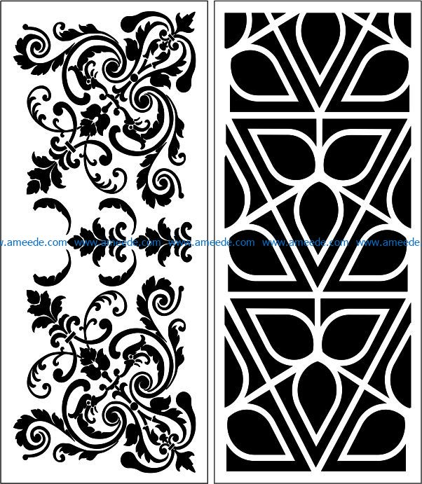 Design pattern panel screen E0008986 file cdr and dxf free vector download for Laser cut CNC