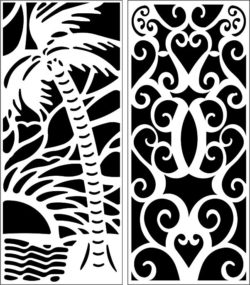 Design pattern panel screen E0008988 file cdr and dxf free vector download for Laser cut CNC