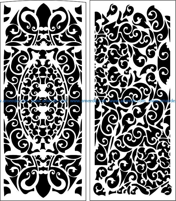Design pattern panel screen E0008989 file cdr and dxf free vector download for Laser cut CNC