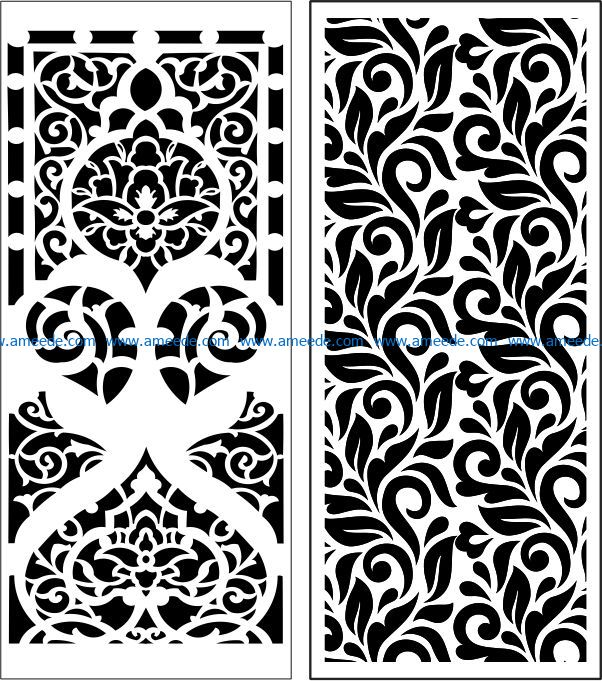Design pattern panel screen E0008990 file cdr and dxf free vector download for Laser cut CNC