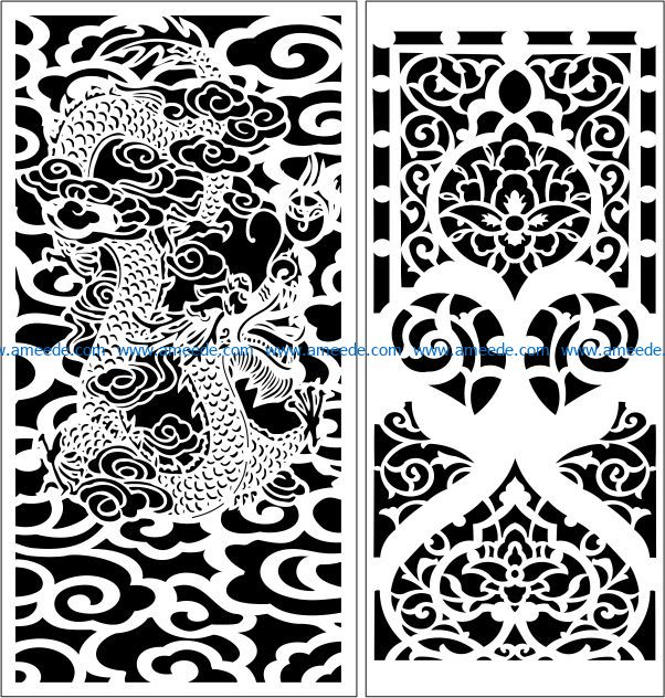 Design pattern panel screen E0009028 file cdr and dxf free vector download for Laser cut CNC