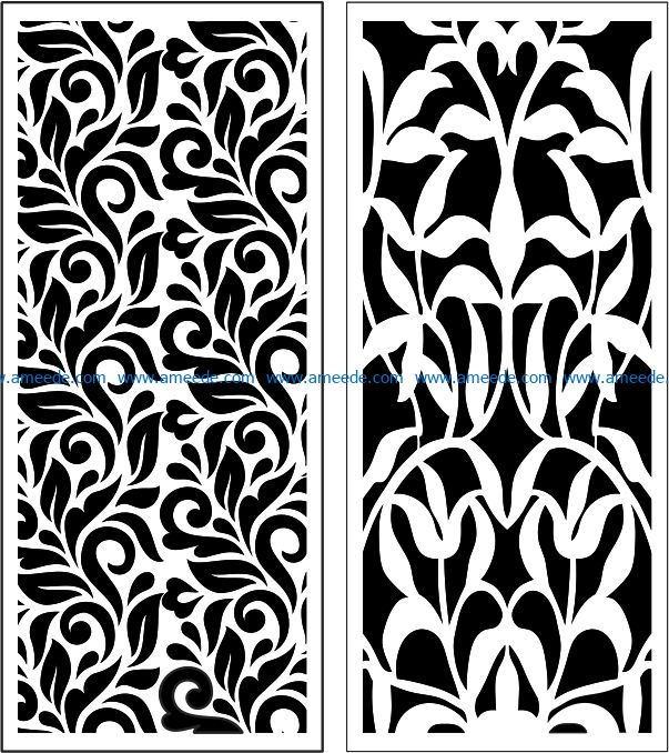 Design pattern panel screen E0009029 file cdr and dxf free vector download for Laser cut CNC