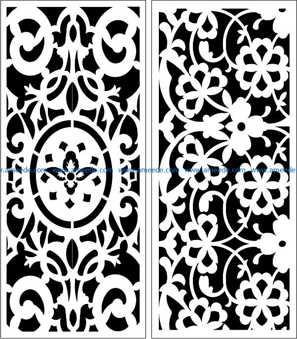 Design pattern panel screen E0009030 file cdr and dxf free vector download for Laser cut CNC
