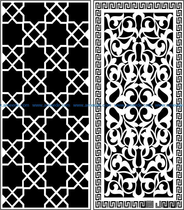 Design pattern panel screen E0009031 file cdr and dxf free vector download for Laser cut CNC