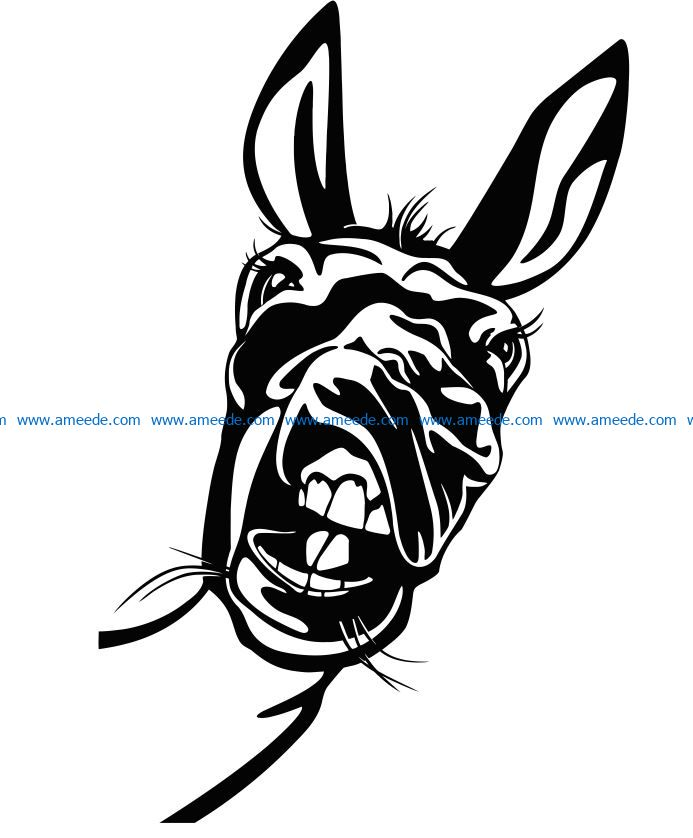 Donkey file cdr and dxf free vector download for laser engraving machines