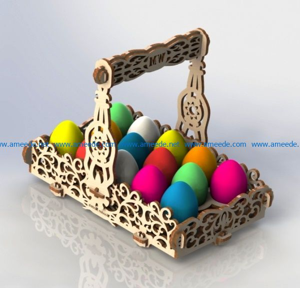 Easter basket file cdr and dxf free vector download for Laser cut