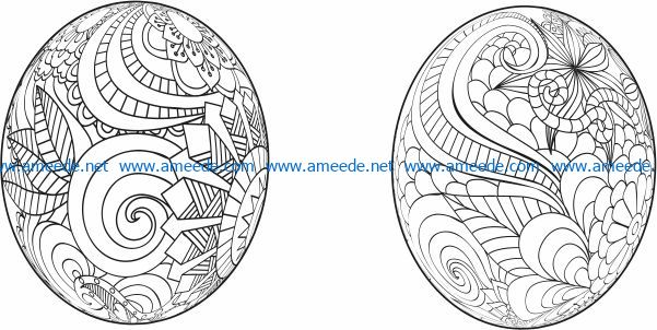 Easter eggs file cdr and dxf free vector download for laser engraving machines