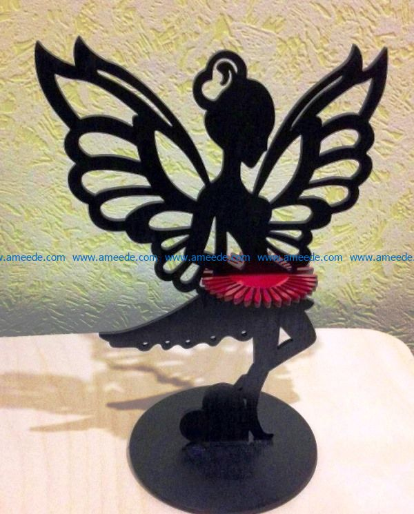 Fairy napkin holder file cdr and dxf free vector download for Laser cut