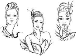 Fashion model file cdr and dxf free vector download for print or laser engraving machines
