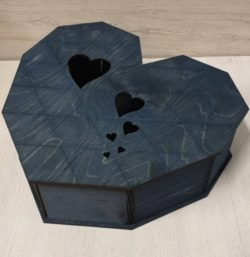 Flexible heart box res file cdr and dxf free vector download for Laser cut