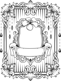 Floral frame file cdr and dxf free vector download for laser engraving machines