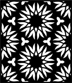 Flower decorated rectangles  file cdr and dxf free vector download for Laser cut