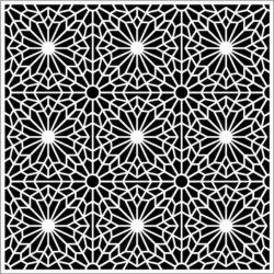 Flower decorated square file cdr and dxf free vector download for Laser cut
