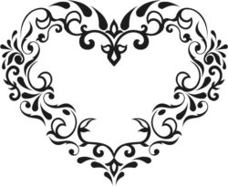 Flower heart file cdr and dxf free vector download for Laser cut