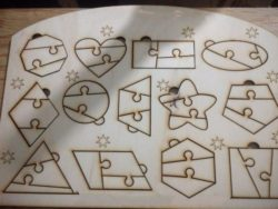 Geometric puzzles file cdr and dxf free vector download for Laser cut